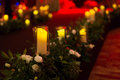 Wedding candles Royalty Free Stock Photo