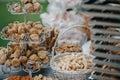Wedding candy bar with bread sticks
