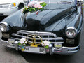 The wedding car Royalty Free Stock Photo