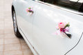 Wedding car with beautiful flower Stock Image