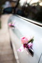 Wedding car with beautiful flower Stock Photo