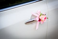 Wedding car with beautiful flower Stock Photos
