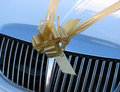 Wedding car ribbon Royalty Free Stock Photo