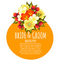 Wedding card cards with floral elements Royalty Free Stock Photo