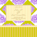 Wedding card cards with floral elements Stock Photo
