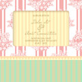 Wedding card cards with floral elements Royalty Free Stock Photos