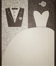 Wedding card in elegant style. Royalty Free Stock Photo