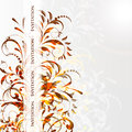 Wedding card or invitation with abstract floral ba Royalty Free Stock Photos