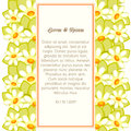 Wedding card or invitation with abstract floral background Stock Photos