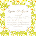 Wedding card or invitation with abstract floral background Stock Photography
