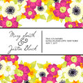 Wedding card or invitation with abstract floral background Royalty Free Stock Image