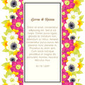 Wedding card or invitation with abstract floral background Stock Image