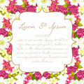 Wedding card or invitation with abstract floral background Stock Photo