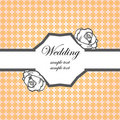 Wedding card invitation template Royalty Free Stock Image