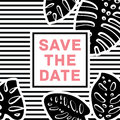Wedding card invitation template , pattern design. Save the date card