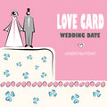 Wedding card love weddings icons Royalty Free Stock Images