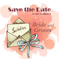 Wedding card. Template of invitation card. Decorative greeting invitaion design Royalty Free Stock Photo