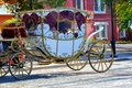 Wedding carriage city of orenburg southern ural russia Royalty Free Stock Photo