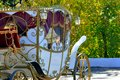 Wedding carriage city of orenburg southern ural russia Stock Photos