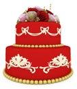 Wedding celebration cake Royalty Free Stock Photo