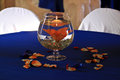 Wedding centerpiece image of a table at a Royalty Free Stock Images