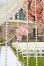 Wedding ceremony in garden Royalty Free Stock Photo
