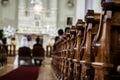 Wedding Ceremony inside a Church Royalty Free Stock Photo