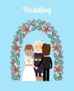 Wedding ceremony vector illustration