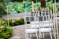 Wedding chair chairs at an outdoor party Royalty Free Stock Image