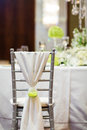 Wedding chair with at indoor Royalty Free Stock Photography