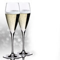 Wedding champagne glasses white background Royalty Free Stock Photos