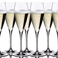 Wedding champagne glasses on the white background Royalty Free Stock Image
