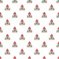 Wedding church pattern seamless
