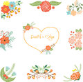 Wedding clipart on a transparent background Stock Photo