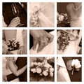 Wedding collage Royalty Free Stock Image