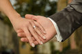 Wedding - couple holding hands Royalty Free Stock Photo