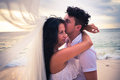 Wedding couple just married Royalty Free Stock Photo