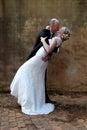 Wedding couple kissing Royalty Free Stock Photo