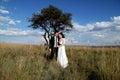 Wedding Couple laughing Royalty Free Stock Photo