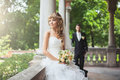 Wedding couple portrait of beautiful joung Royalty Free Stock Images
