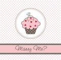 Wedding cupcake card