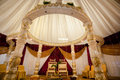 Wedding decor beautiful hindu mandap Stock Image