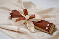 Wedding decor beautiful weding handmade brown Stock Photography