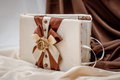 Wedding decor beautiful weding handmade brown Stock Images