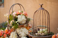 Wedding decor table setting and flowers Stock Images
