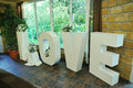 Wedding decor words LOVE Royalty Free Stock Photo