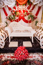 Wedding decoration for the couple s seating Stock Photography