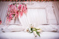 Wedding decoration for the couple s seating Royalty Free Stock Photography