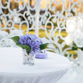 Wedding decoration in garden sunny autumn day Stock Images