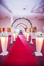 Wedding decoration for the reception hall Royalty Free Stock Photos